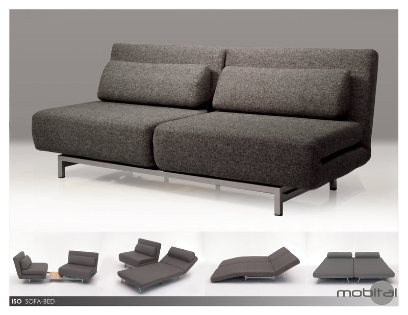 Iso Double Chair-bed  (Charcoal)