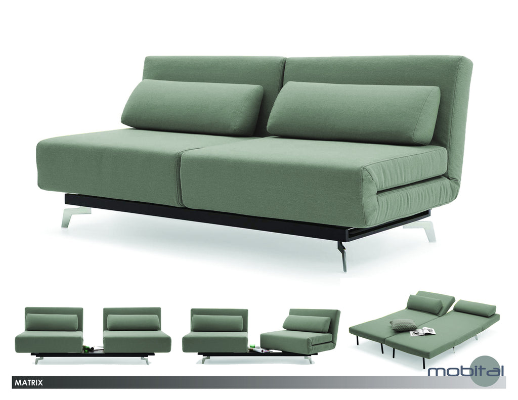 Matrix Sofabed  (Grey Tweed)