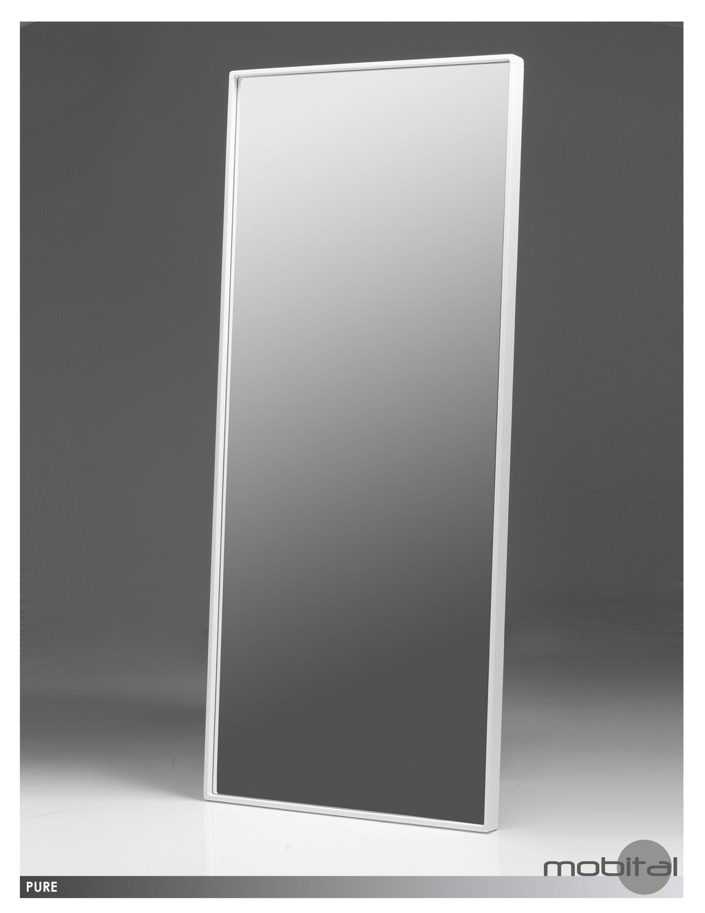 Pure Standing Mirror  (High Gloss White)