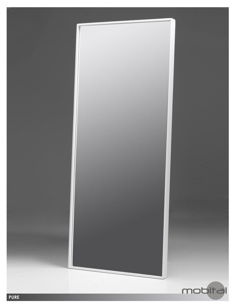 Pure Standing Mirror  (High Gloss Light Grey)