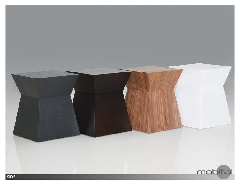 Kryp Stool/end Table  (High Gloss White)