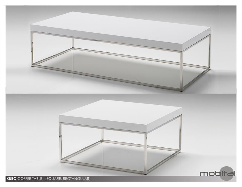 Kubo Coffee Table   (High Gloss White)