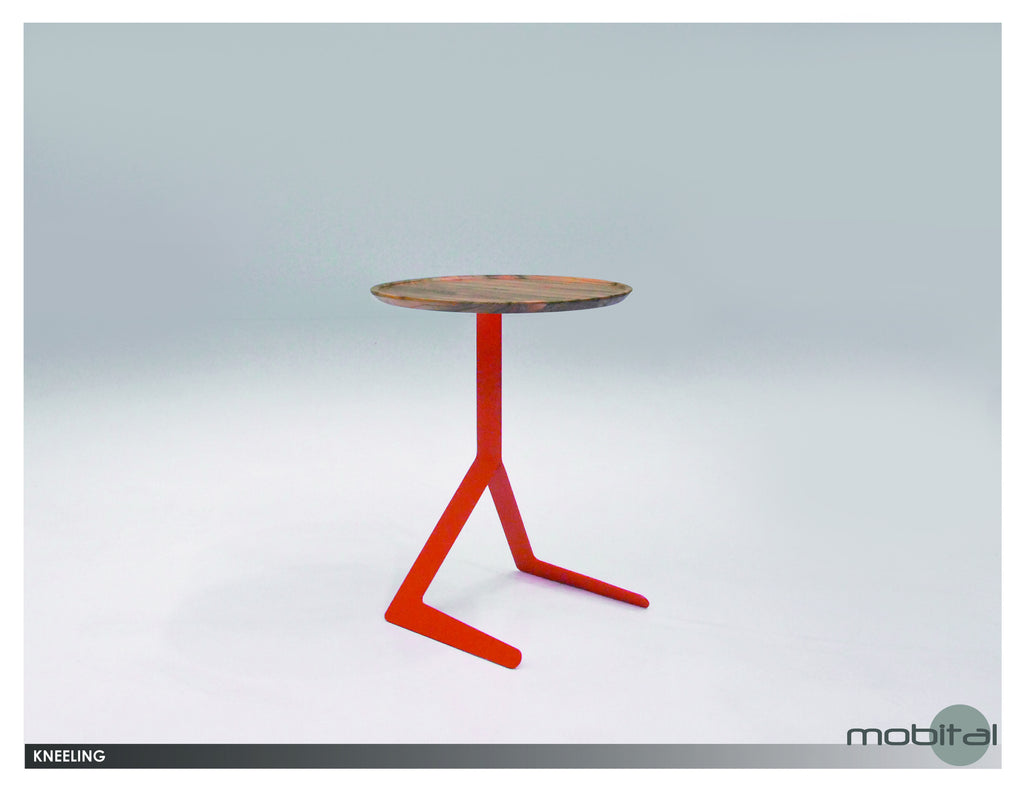 Kneeling Side Table  (Orange)