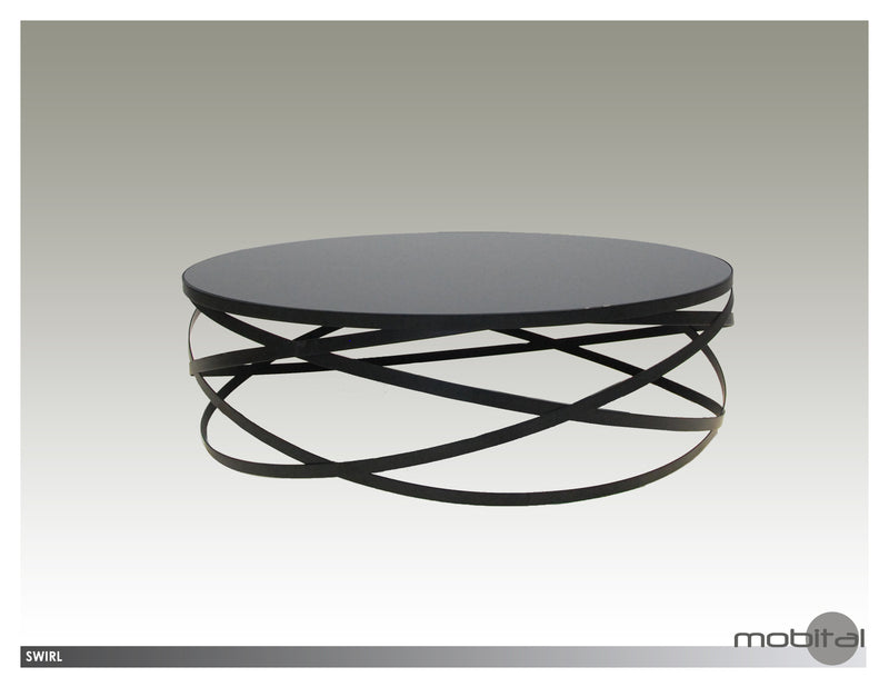 Swirl Coffee Table  (Black)