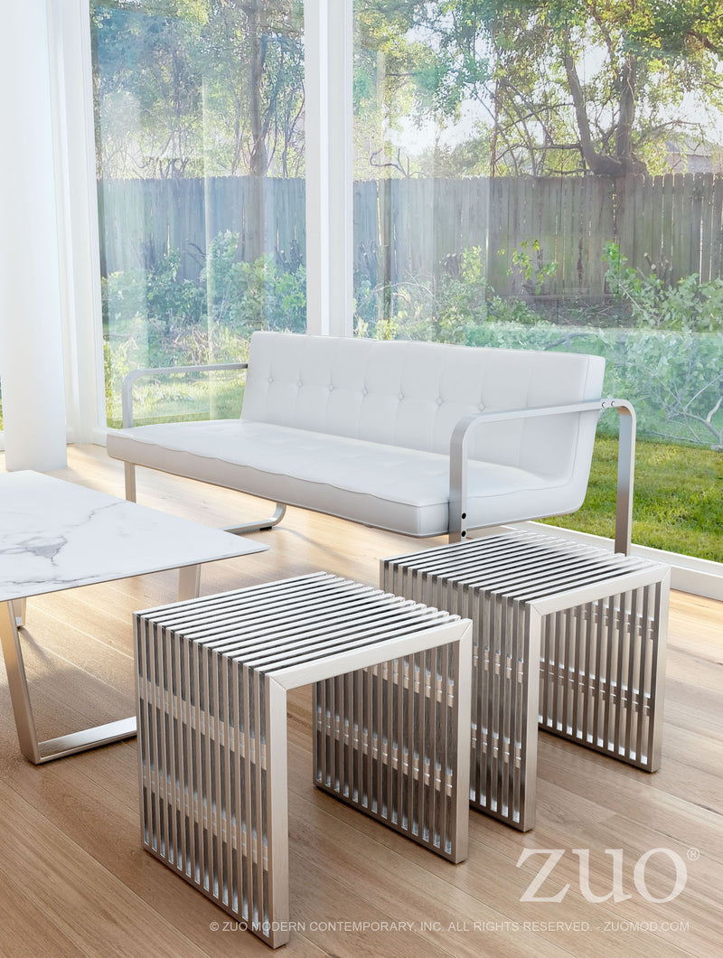 Novel Single Bench (Brushed Stainless Steel)