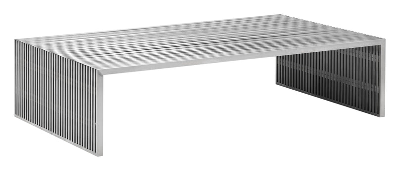Novel Rectangular Coffee Table (Brushed Stainless Steel)