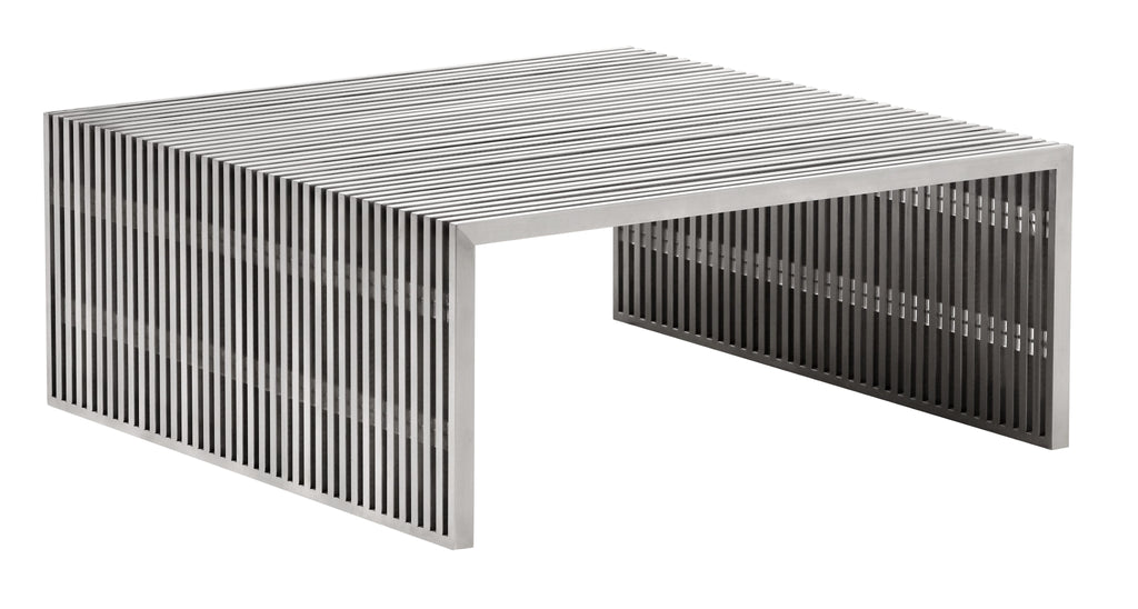 Novel Square Coffee Table (Brushed Stainless Steel)