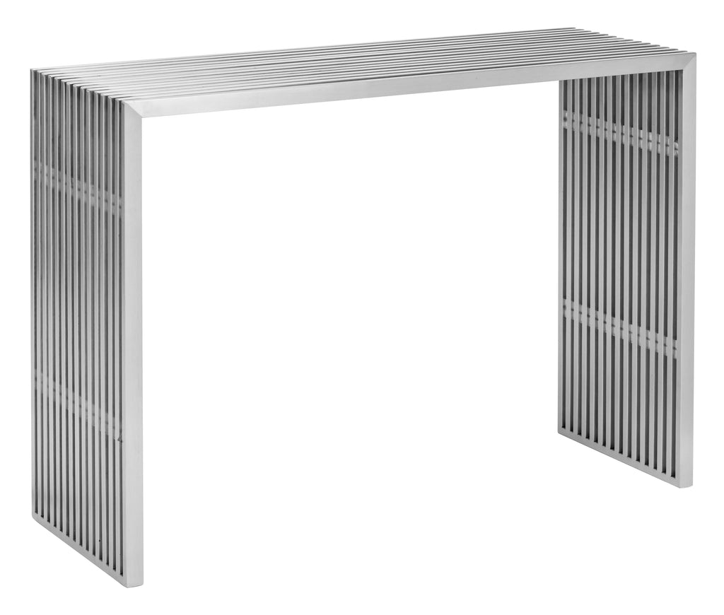 Novel Console Table (Brushed Stainless Steel)