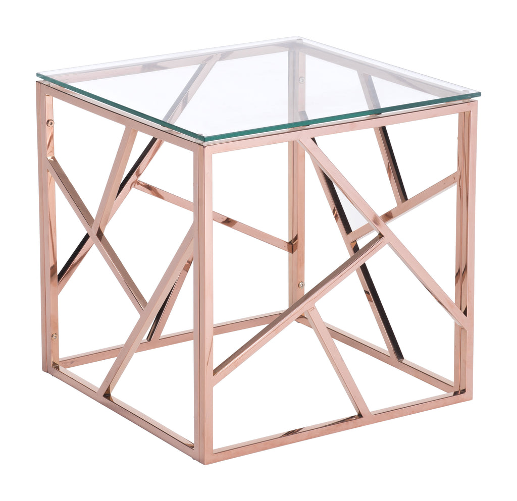 Cage Side Table (Rose Gold)