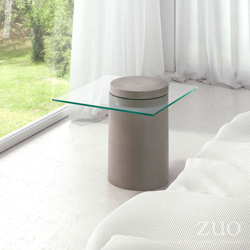 Monolith Side Table (Cement)