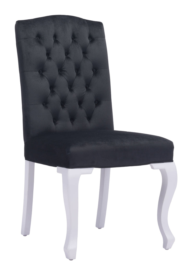 Bourbon Dining Chair (Black Velvet)