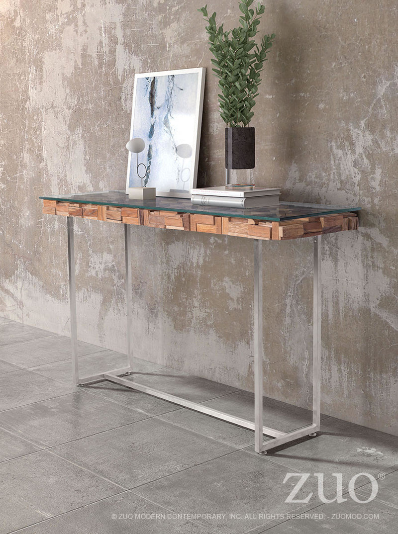 Collage Console Table (Natural)