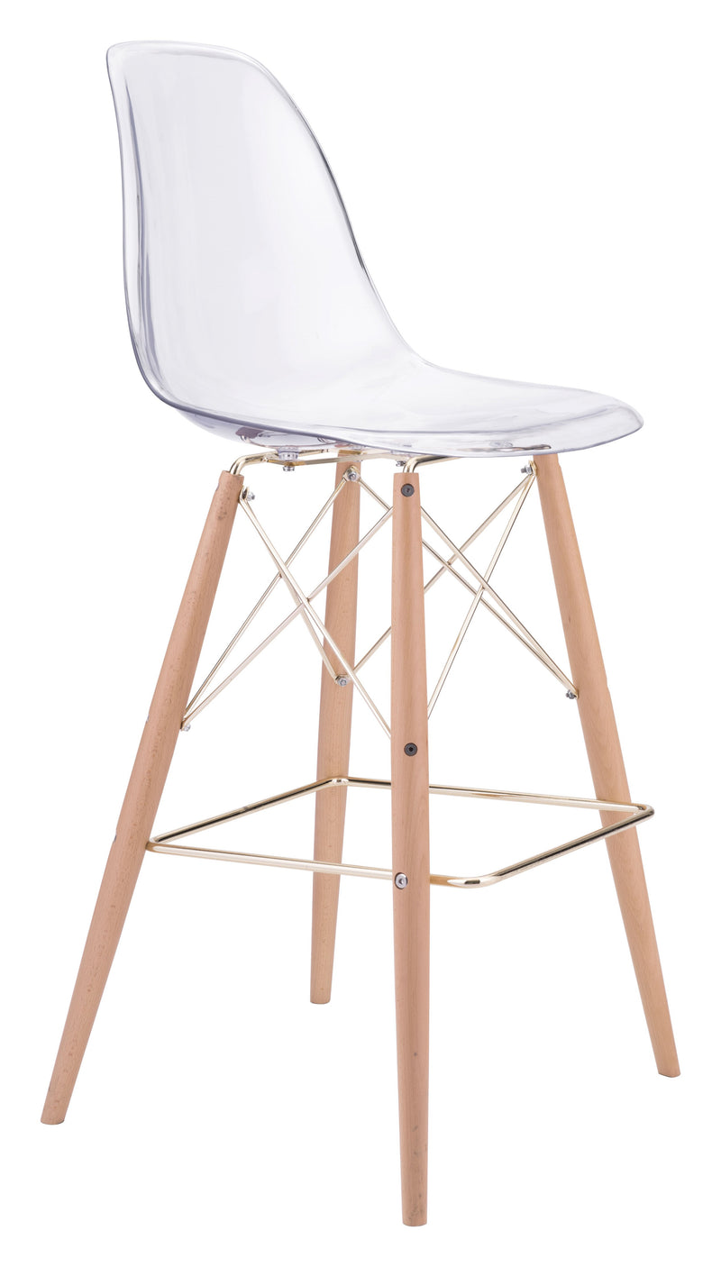 Shadow Bar Chair (Transparent, Natural & Gold)