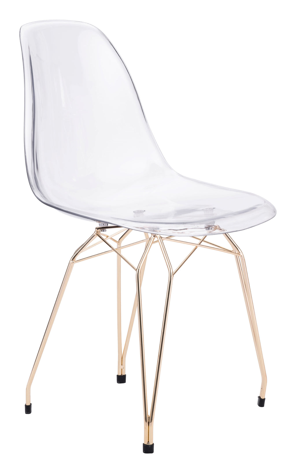 Shadow Dining Chair (Transparent & Gold)