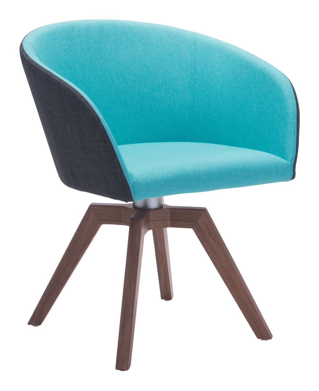 Wander Swivel Dining Chair (Blue & Gray)