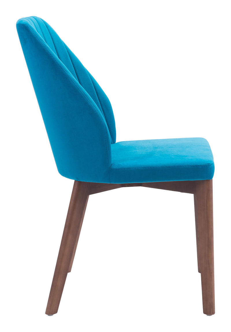 Vaz Dining Chair (Blue Velvet)