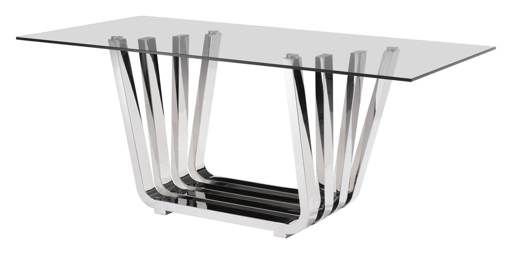 Fan Dining Table (Chrome)