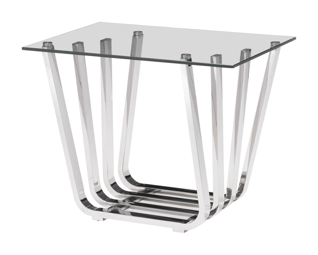 Fan Side Table (Chrome)