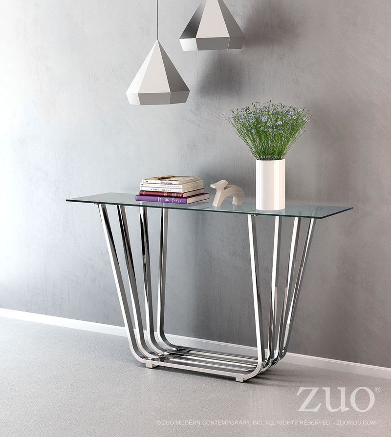 Fan Console Table (Chrome)