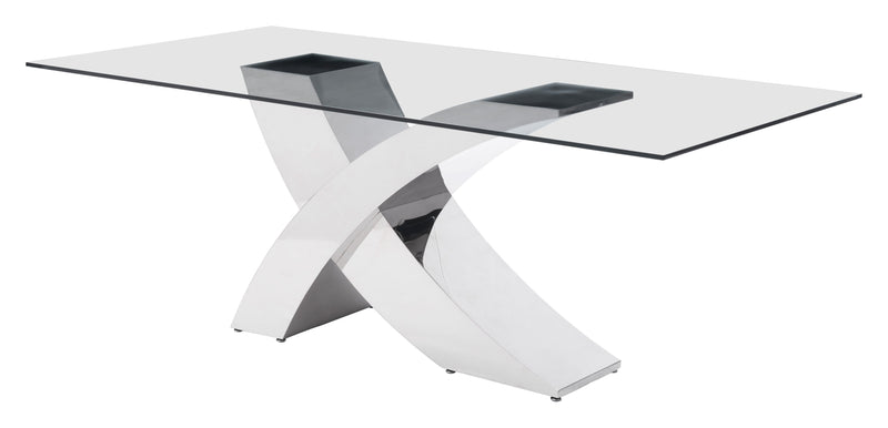Wave Dining Table (Chrome)