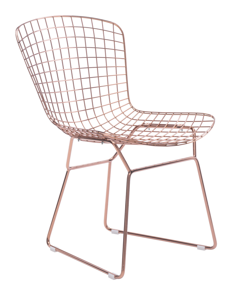 Wire Dining Chair (Rose Gold)