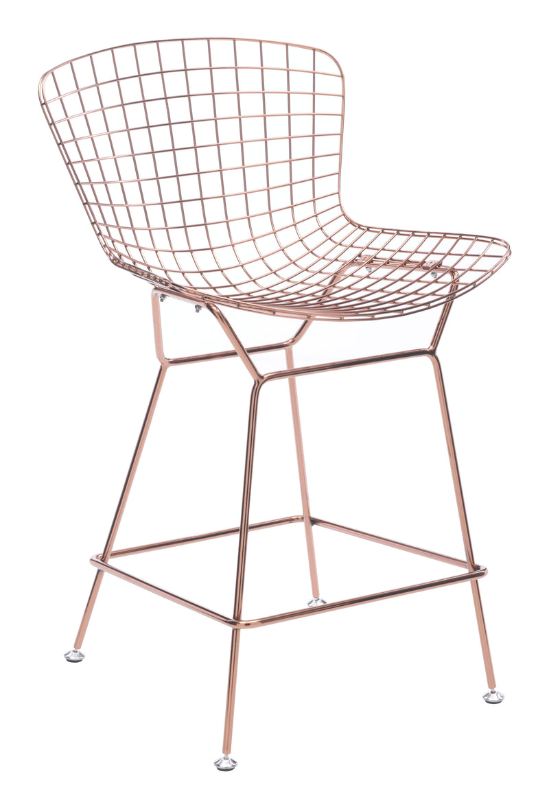 Wire Counter Chair (Rose Gold)