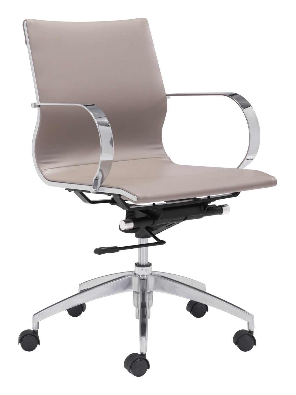 Glider Low Back Office Chair (Taupe)