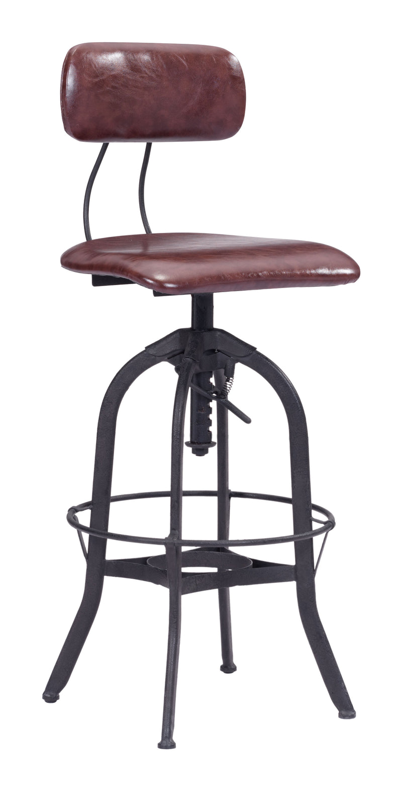 Gering Bar Chair (Burgundy & Antique Black)