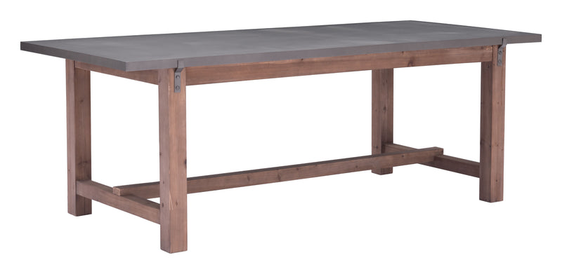 Greenpoint Dining Table (Gray & Distressed Fir)