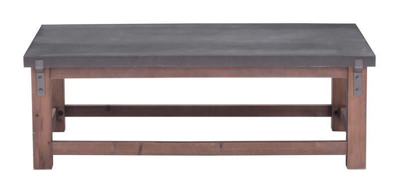 Greenpoint Coffee Table (Gray & Distressed Fir)