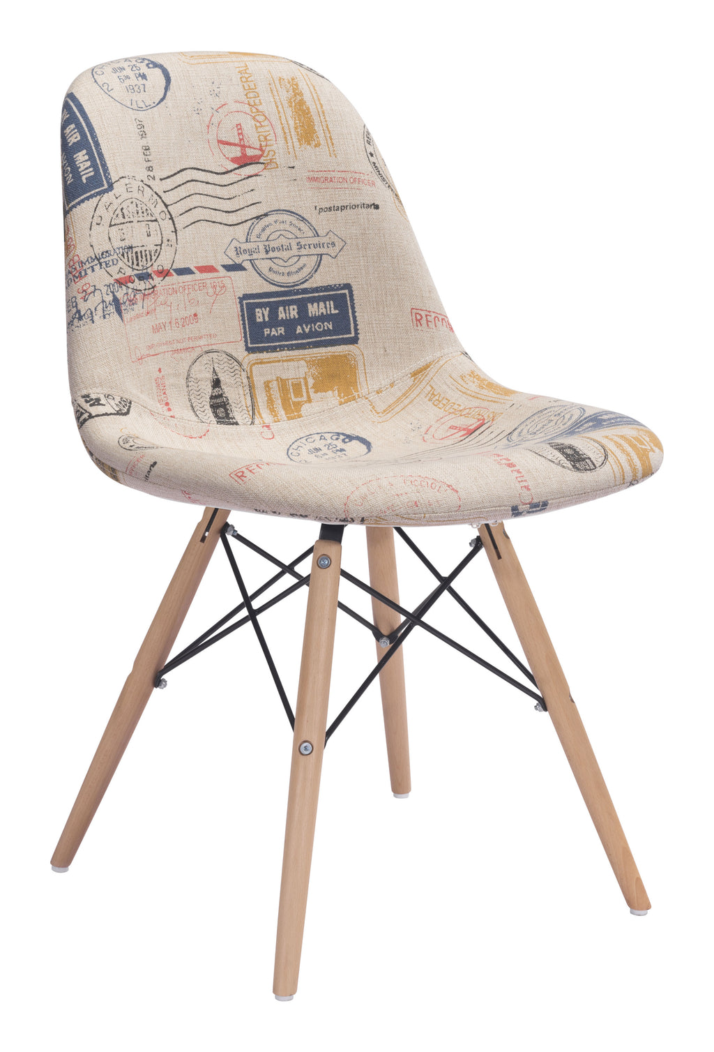 Solo Dining Chair (Vintage Postage Print)