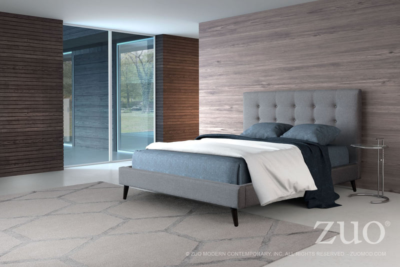 Modernity King Bed (Gray)