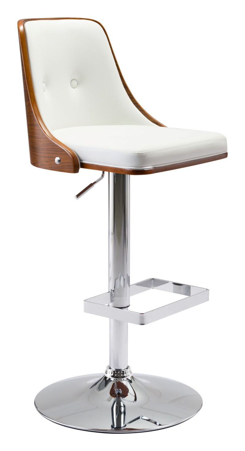 Scooter Bar Chair (White)