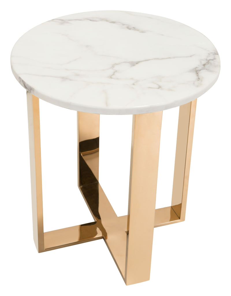 Atlas End Table (Stone & SS)