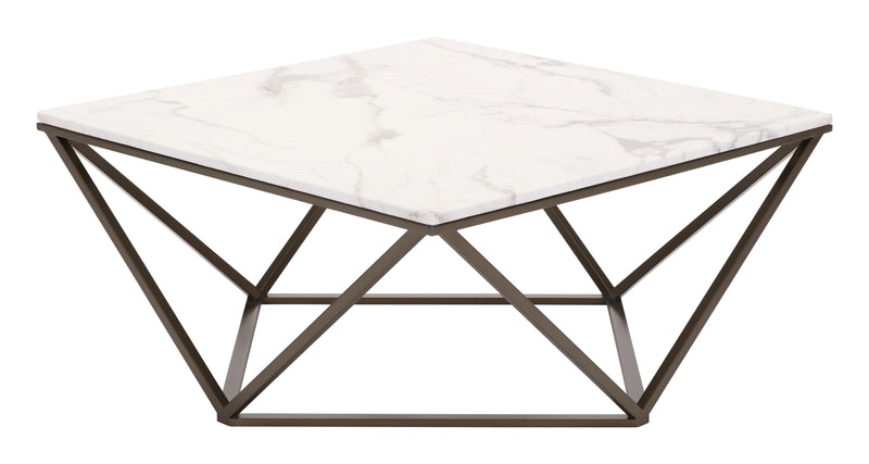 Tintern Coffee Table (Stone & Antique Brass)