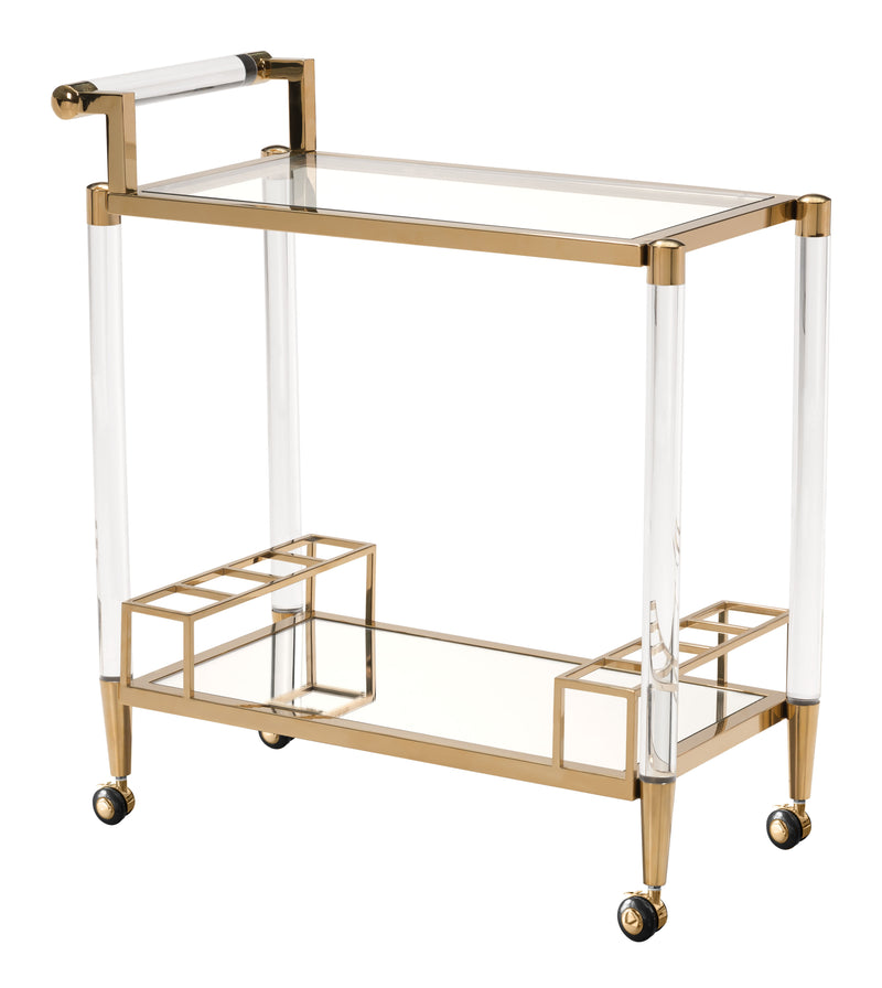 Existential Serving Cart (Gold)
