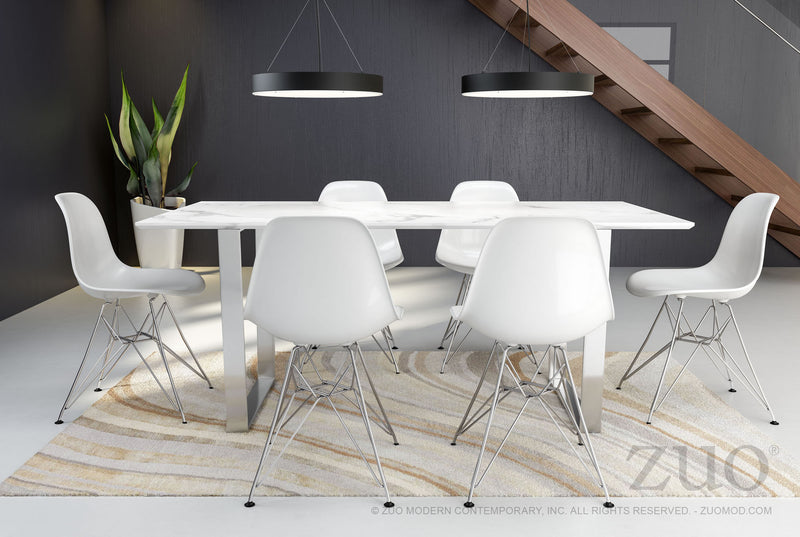 Atlas Dining Table (Stone & SS)