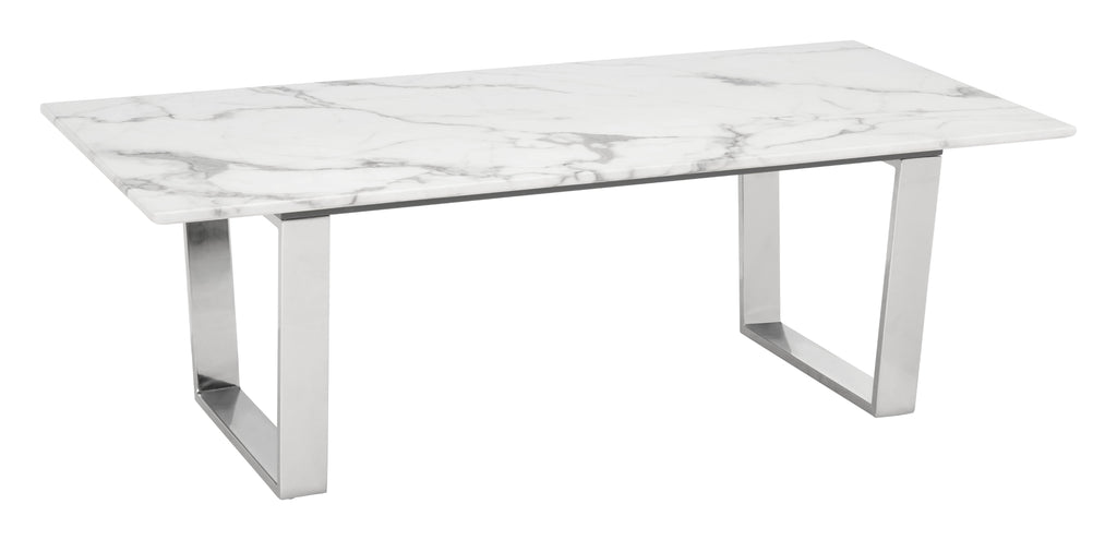 Atlas Coffee Table (Stone & SS)