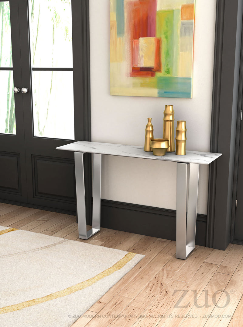 Atlas Console Table (Stone & SS)
