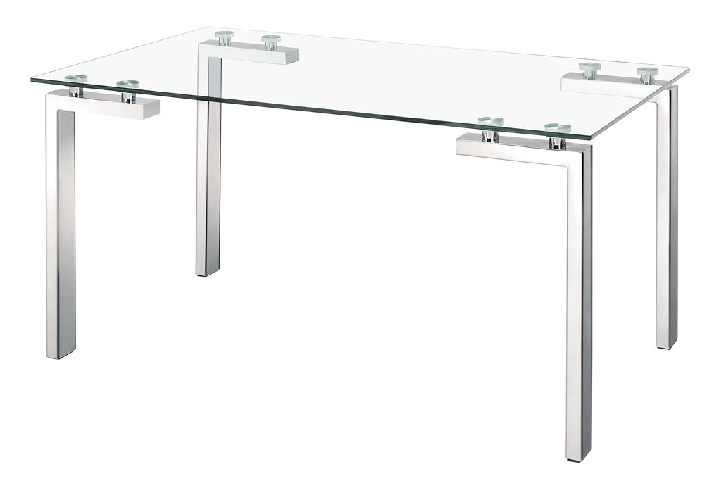 Roca Dining Table (Polished Stainless Steel)