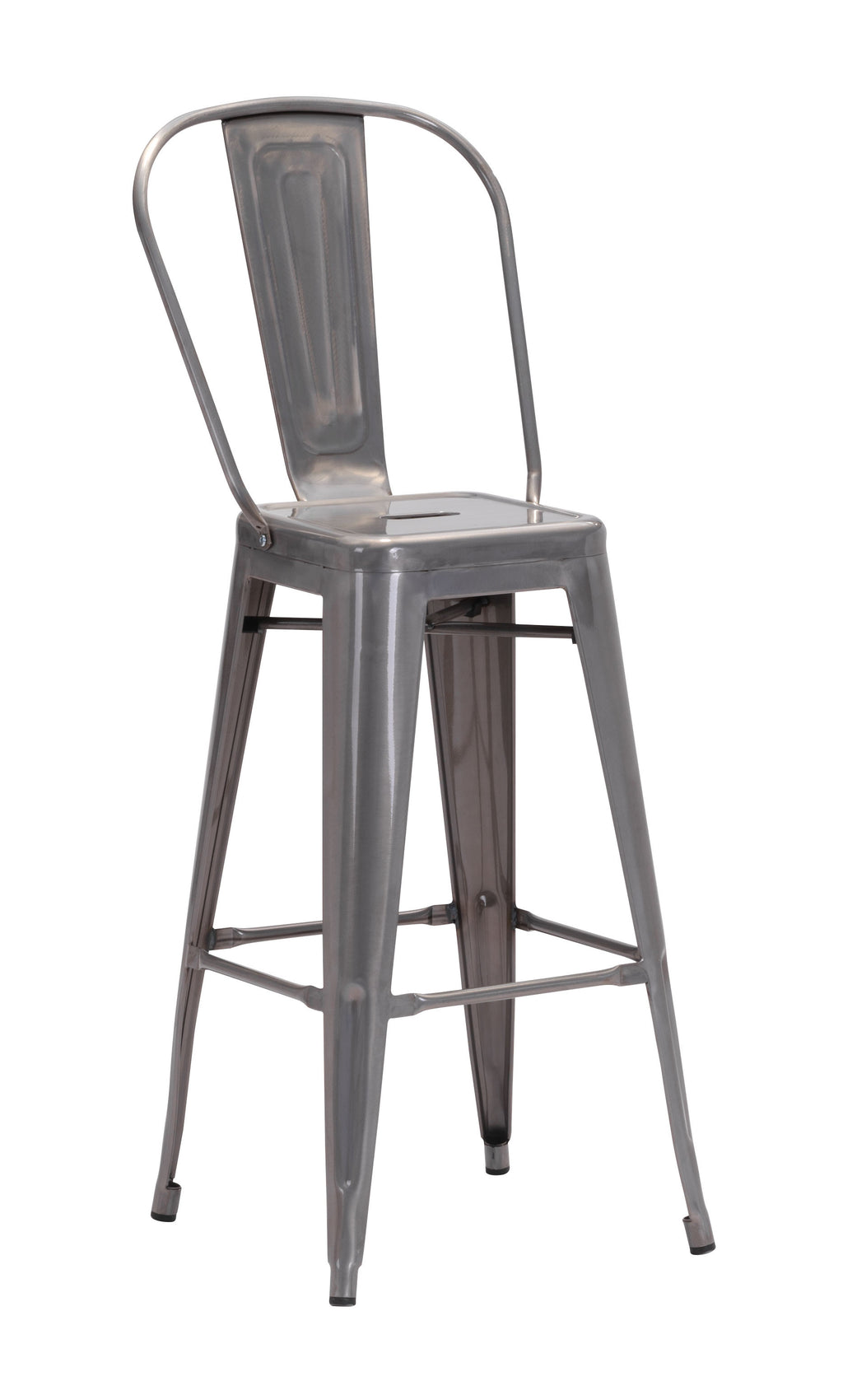 Elio Bar Chair (Gunmetal)