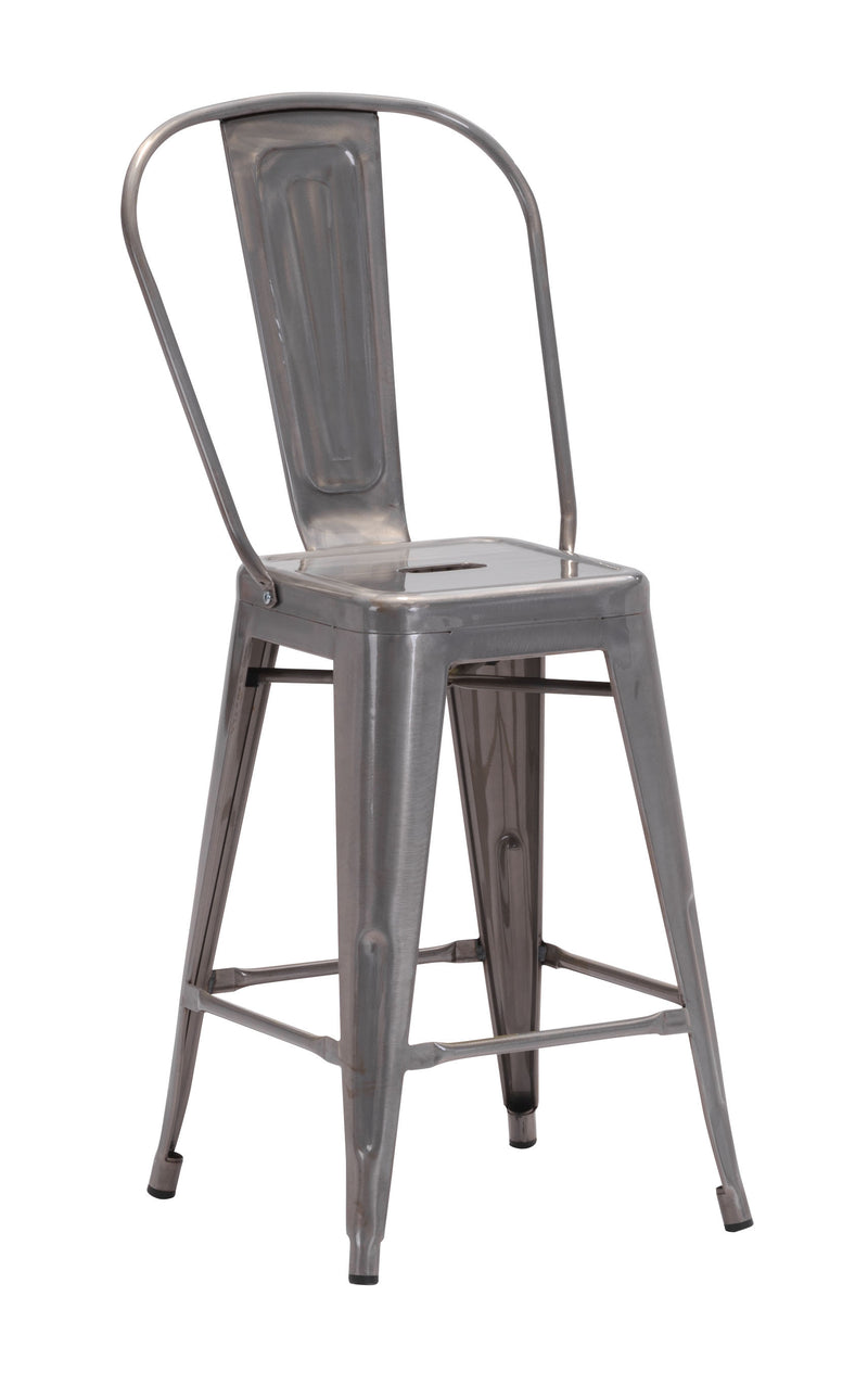 Elio Counter Chair (Gunmetal)