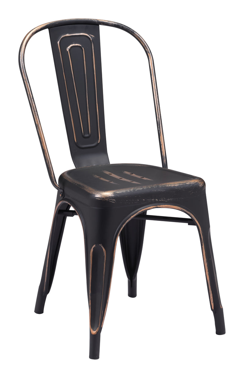 Elio Dining Chair (Antique Black Gold)