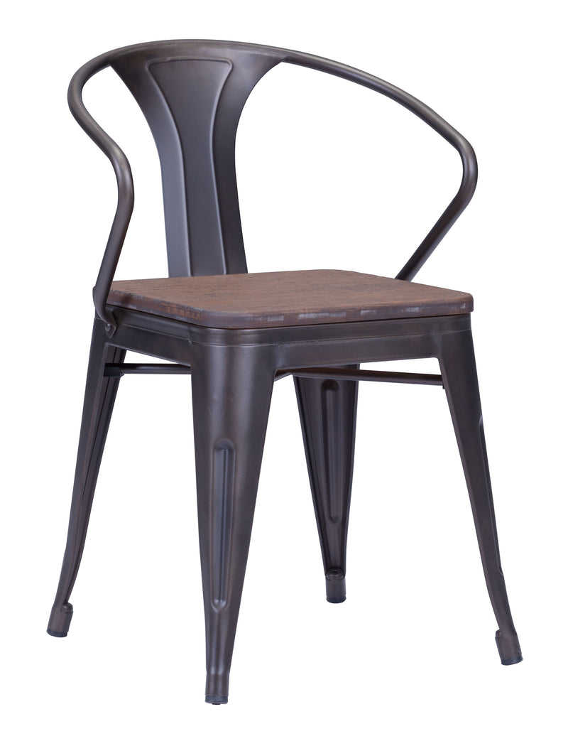 Helix Dining Chair (Rustic Wood)
