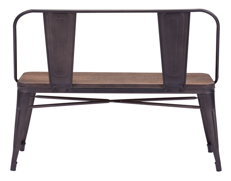 Elio Double Bench (Rustic Wood)