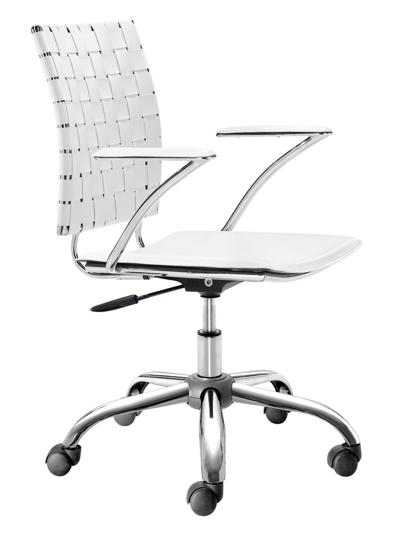 Criss Cross Office Chair (White)
