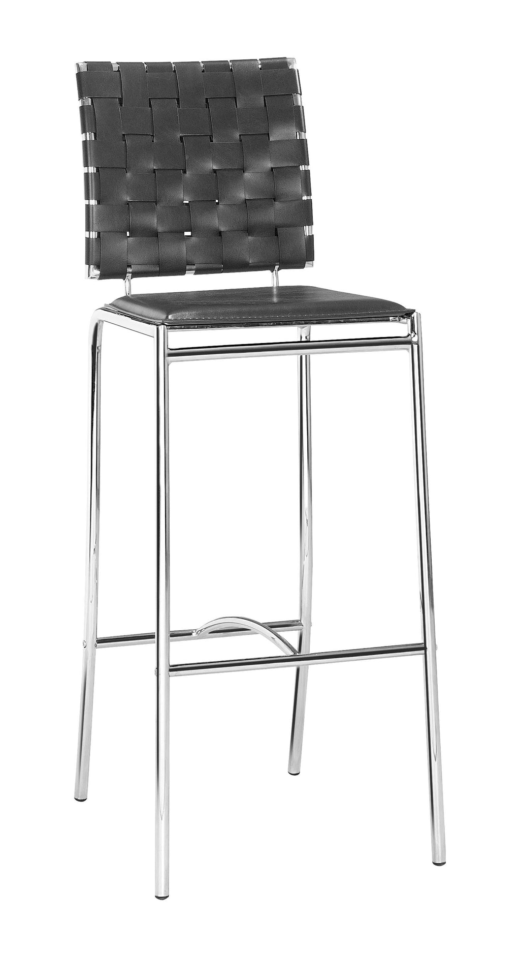 Criss Cross Bar Chair (Black)