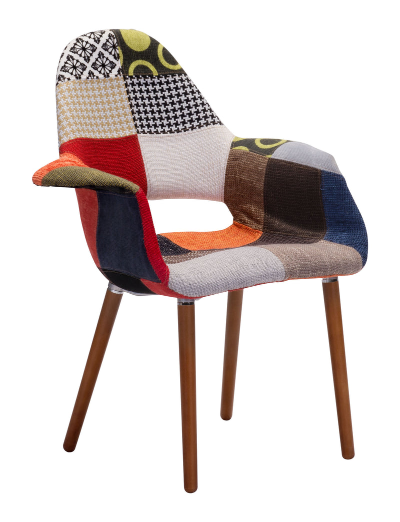 Moshe Occasional Chair (Patchwork Multicolor)