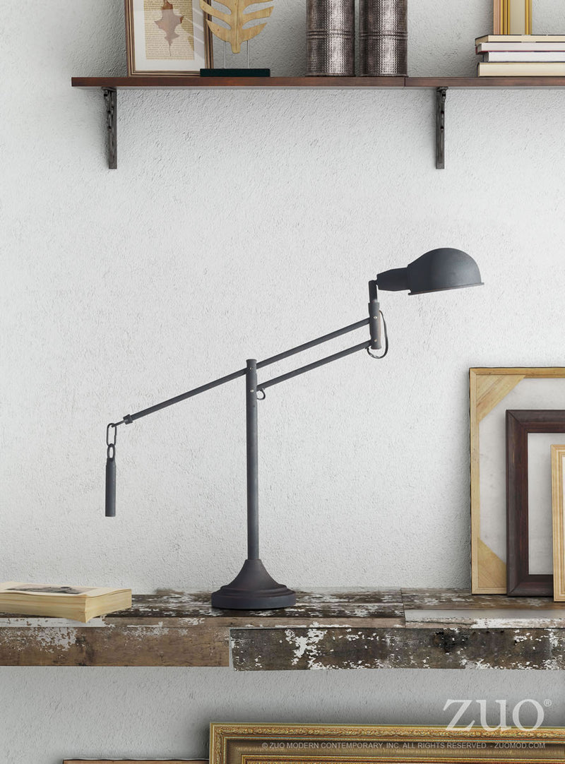 Skip Table Lamp (Black Sand Granite)
