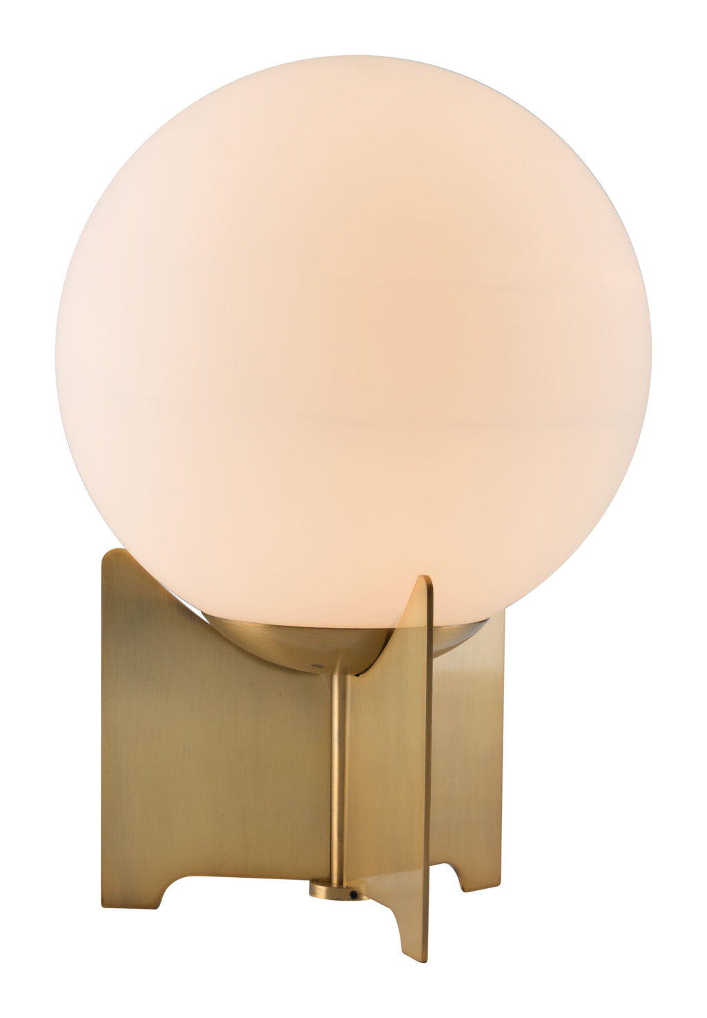 Pearl Table Lamp (White & Brushed Bronze)